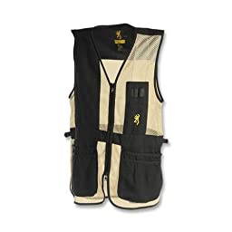 Browning Trapper Creek Left Hand Vest, Black/Tan, X-Large