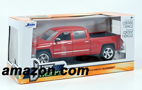 Jada 2014 Chevy Silverado Pickup Truck 1/24 Scale Diecast Model Vehicle Red (Die Cast Promotions Trucks compare prices)