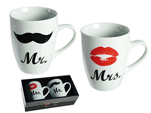 Gift Boxed Mr and Mrs Mugs