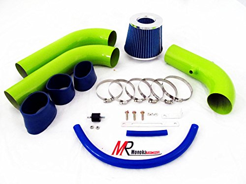 02 03 04 05 06 07 08 Dodge Ram 1500/2500/3500 4.7L/5.7L V8 Green Piping Cold Air Intake System Kit With Blue Filter