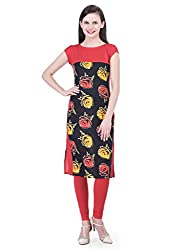 FAIRENO Rose Printed Dress For Women's