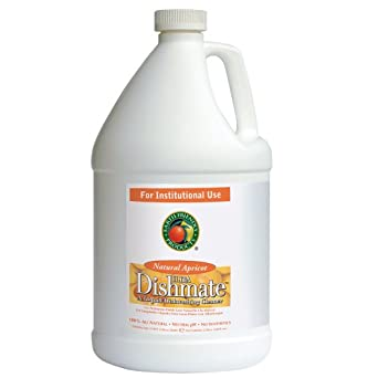 Earth Friendly Products Proline PL9728/04 Dishmate Apricot Ultra-Concentrated Liquid Dishwashing Cleaner, 1 gallon Bottles (Case of 4)