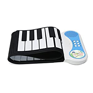Eoncore Portable 37-Keys Mini Roll up Soft Silicone Flexible Electronic Digital Music Keyboard Piano with Loud Speaker for kids from Eoncore