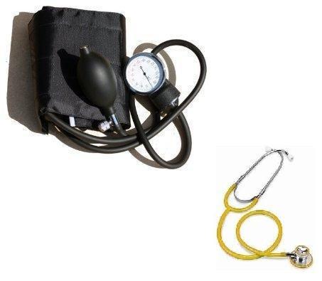 Blutdruckmessgerät und Gelb Dual Head Stethoskop