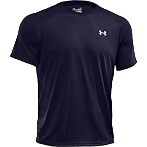 Under Armour Tech T-Shirt manches courtes Homme Midnight Navy/White FR : M (Taille Fabricant : MD)