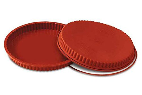 Silikomart SFT426/C Silicone Classic Collection Flan/ Tart Pan, 10.25-Inch