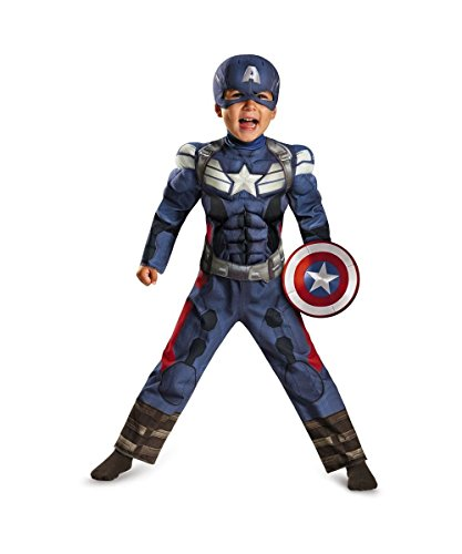 Captain America Movie the Winter Soldier Toddler Muscle Costume - Toddler