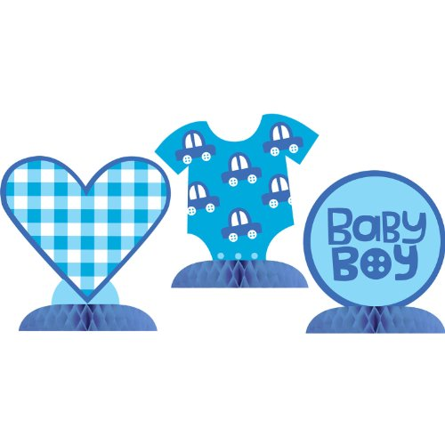 Cute as a Button Boy Baby Shower Mini Centerpieces-3ct - 1