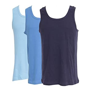 Mens Underwear - Heavy Weight 100% Cotton Sleeveless Vest (Pack of 3)