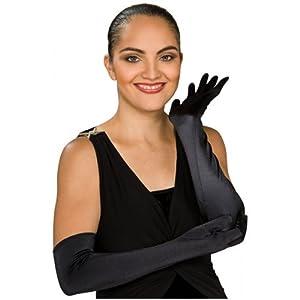 Stretch Satin Opera Length Gloves Costume Accessory