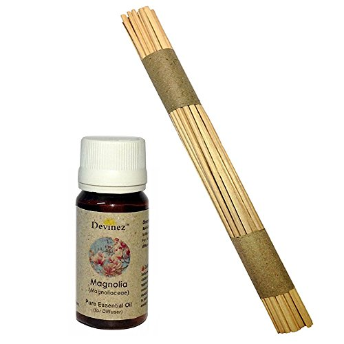 Devinez Premium Reed Sticks/ Refill Pack For Reed Diffusers 10 Inches (100 Sticks) With Free 15ml Magnolia Oil...