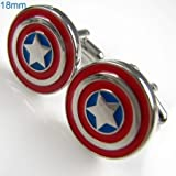 Captain America Marvel Comics Formal Wear Cufflinks Cuff Links