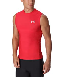 Under Armour Men's HeatGear® Compression Sleeveless T-Shirt Extra Extra Large Red