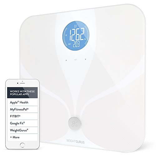 Weight Gurus Wifi Smart Connected Body Fat Scale w/ Backlit LCD & ITO Conductive Surface Technology