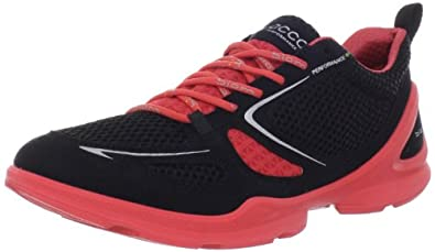 ECCO Women's Lite Running Shoe,Black/Black/Poppy,37 EU/6-6.5 M US