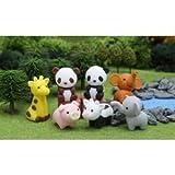 Iwako lindo rompecabezas japonés Take Apart Borradores Zoo Animales Juego de 7 con reciclable sin PVC Material del Juguete / Juego / Play / niño / el cabrito