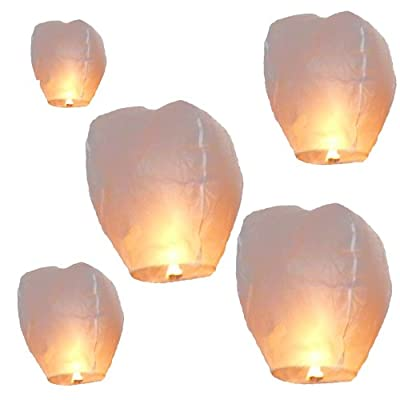 Night Sky Lanterns White Sky Candles Pack Of 5 by Night Sky Lanterns