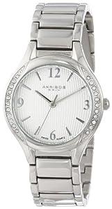 Akribos+XXIV Akribos XXIV Women's AK548SS Swiss Quartz Stainless Steel Crystal Watch