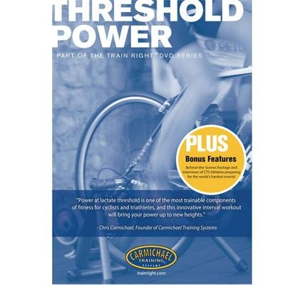 Carmichael Training Systems CTS Train Right Performance Series Threshold Power Cycling DVD - 2166-TP