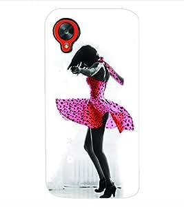 Fuson 3D Printed Cute Girl Designer Back Case Cover for LG Google Nexus 5 - D657