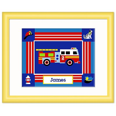 Olive Kids Heroes Personalized Yellow Framed Print front-941713