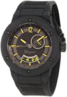 Salvatore Ferragamo Men's F55LGQ6875 S113 F-80 Stainless Steel and Black Rubber Watch from Salvatore Ferragamo