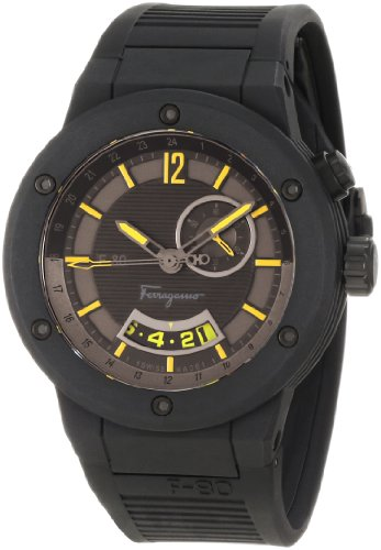 Ferragamo Men's F55LGQ6875 S113 F-80 Black Carbon