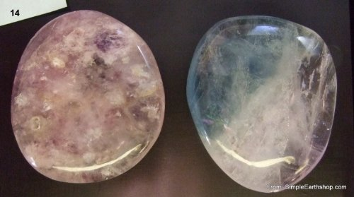 Fluorite Palmstones are reputed to fortify bones, improves arthritic or other joint ailments, with FREE Black drawstring pouch.