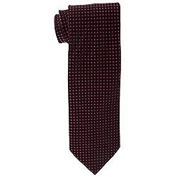 Cauvery Men's Pure Silk Dotted Design Necktie, 60 Inch by 5 Inch, Black