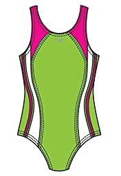 Speedo Big Girls\' Solid Infinity Splice (Kid) - Citrus Green - 8