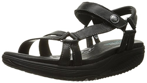 Skechers Women`s Shape UPS 0.5 Tone It Wedge Sandal, Black, 9 M US