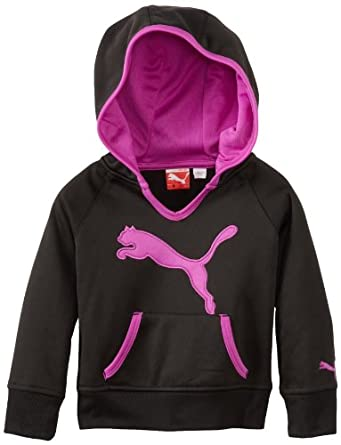PUMA Little Girls' Little Active Core Pullover Hoodie, Black, 4