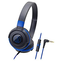 Audio-Technica ATH-S100ISBBL Street Monitoring Headphones with Mic (Black/Blue)