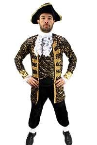 Kostüm Edelmann Pirat Kapitän Barock Herren Gr. 48