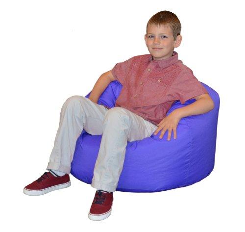Gilda® Kinder Sitzsack KONIGSBLAU Wasser & schmutzabweisend gefüllt mit Polystyrol Bohnen