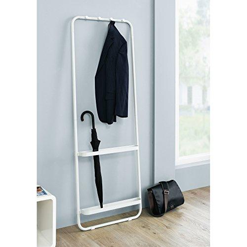Garderobe-Garderobenstnder-zum-Anlehnen-Metall-wei-ca-T8-x-B55-x-H49-cm