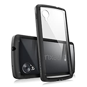 Nexus 5 Case - Ringke Fusion Bumper Premium Hybrid Case with Free Screen Protector for Google Nexus 5 - Eco Package - Retail Packaging - Black