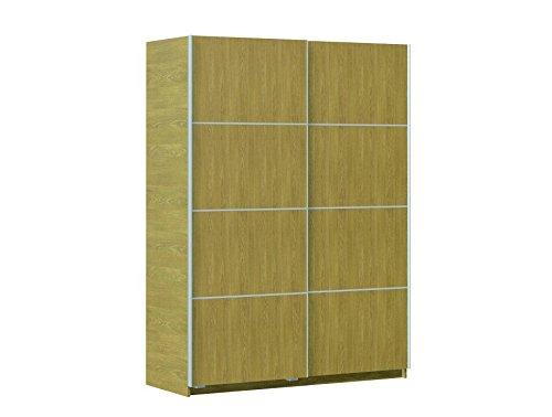 Armario ropero roble de puertas correderas, para dormitorios, 150x200 cm.