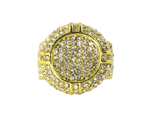 Men's Iced Out Hip Hop Style Ring 3 COLORS TO CHOOSE FROM