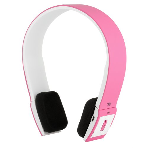 Chromo Inc.® SMOOVE Series Stereo Bluetooth Wireless Headphones with Microphone (Pink)