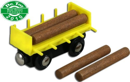 Li'l Chugs Wooden Train Log Freight Car - 1