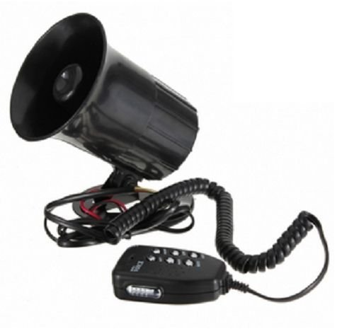 6 Tones 12V Vehicle Pa Speaker System Siren Horn Amplifier Sound Audio Noise High Volume Car Auto Van Truck Motorcycle Boat Megaphone Microphone Part Product Device Tool Alarm Security Train Mounted Mount Electric Cop Fire Police Ambulance Sirene Megaphon