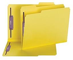 Smead Pressboard Fastener File Folder with SafeSHIELD® Fasteners, 2 Fasteners, 1/3-Cut Tab, 2\