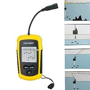 Portable Sonar Sensor Fish Finder with Alarm Transducer