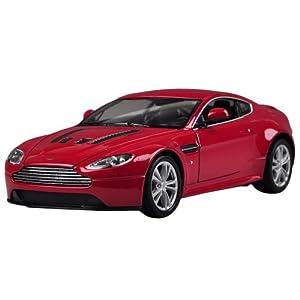 Fahrzeuge Spielzeug Fertigmodell Modellauto 1:24 Rot Aston Martin V12 vantage Diecast Modell Autos