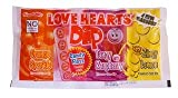 3 Fruit Flavour Fizz Dips & A Love Hearts Stick (Sold Singly)