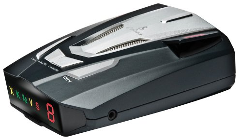 Cobra XRS9470 Voice Alert 14 Band Radar/Laser Detector with 360 Degree Protection and Ultra Bright Data Display
