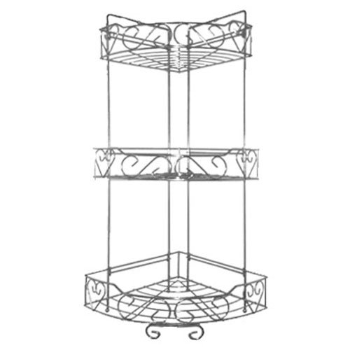 Freelogix 3 Tier Triple Corner Shelf Caddy Basket - Kitchen Or Bathroom Shower