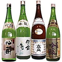 淡麗辛口な富山の吟醸酒 飲みくらべ(1.8L×4本)セット