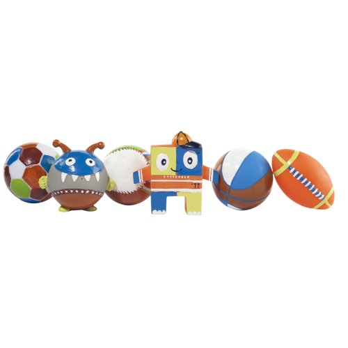 Elegant Baby 6 Piece Bath Squirties Gift Set, Play Ball